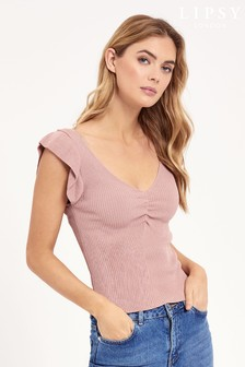 Lipsy Ruffle Knitted Vest Top