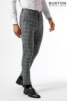 Burton Skinny Fit Fine Check Suit Trousers