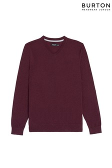 Burton Burton V-Neck Jumper With Organic Cotton