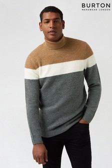 Burton Striped Cosy Roll Neck Jumper