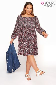 Yours Curve Ribbed Swing Dress