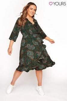 Yours Curve Animal Print Wrap Dress