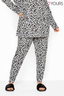 Yours Curve Animal Print Lounge Co-Ord Bottoms