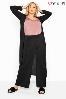Yours Curve London Slinky Co-Ord Wide Leg Trousers