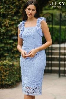 Lipsy Lace Bodycon Midi Dress