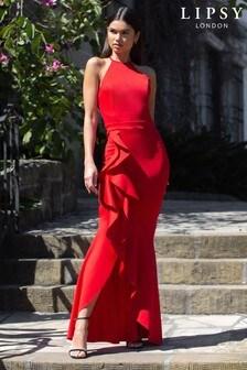 Lipsy Ruffle Maxi Dress