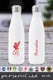 Personalised Football Crest Insulated Water Bottle by Personalised Football Gifts