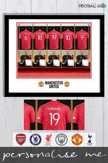 Personalised Football Club Dressing Room Framed Print by Personalised Football Gifts