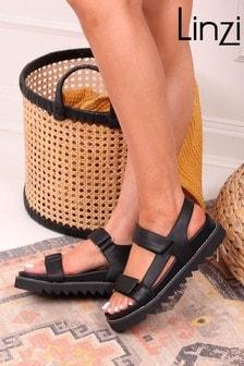 Linzi Mojo Sporty Faux Leather Sandal