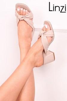 Linzi Luxe Jordyn Knotted Upper Block Heel Sandal