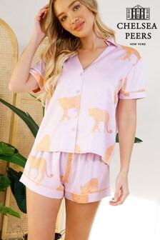 Chelsea Peers Wellness Project Premium Satin Short Pyjama Set