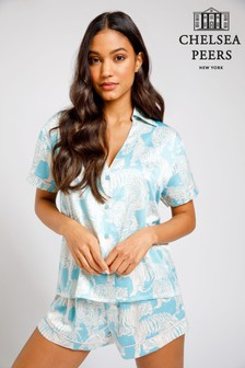 Chelsea Peers Wellness Project Premium Satin short Pyjamas set