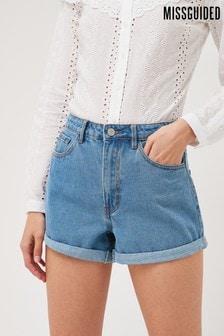 Missguided Denim Mom Shorts