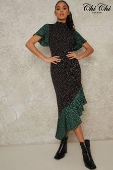 Chi Chi London Moira Asymmetric Dress