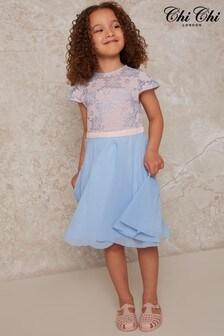 Chi Chi London Girls Lace Bodice Skater Dress