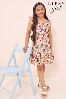 Lipsy Floral Frill Strap Dress