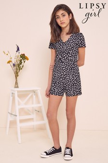 Lipsy Ruched Front Cut Out Playsuit