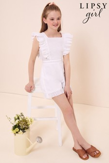 Lipsy Broderie Frill Playsuit