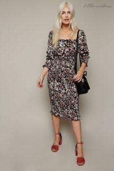 Little Mistress Firth Floral-Print Shirred Mid Skirt