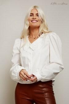 Little Mistress Astor White Lace Collar Shirt