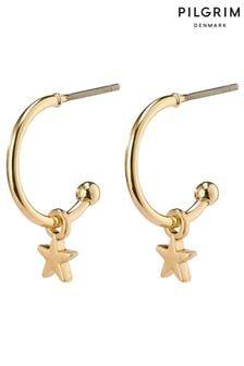 PILGRIM Ava Hoop Earrings with Star Drop