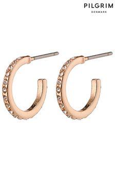 PILGRIM Roberta Small Crystal Hoop Earrings
