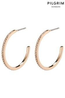 PILGRIM Roberta Large Crystal Hoop Earrings