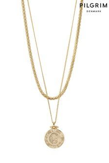 PILGRIM Nomad 2 in 1 Coin and Rope Chain Necklace