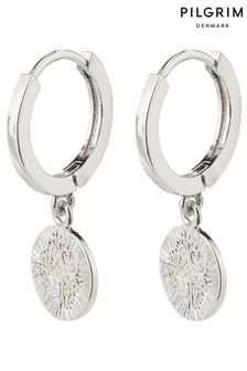 PILGRIM Nomad Small Hoop Earrings with Coin Pendant