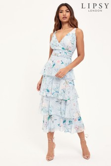 Lipsy Printed Tiered Maxi Dress