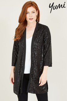 Yumi Black Sequin Kimono