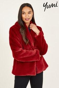 Yumi Short Wrap Faux Fur Daniela Coat
