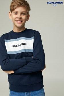 Jack & Jones Junior Colourblock Logo Sweatshirt