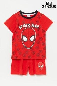 Kid Genius Spiderman Short Pj Set
