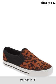 Simply Be Wide Fit Slip On Trainer