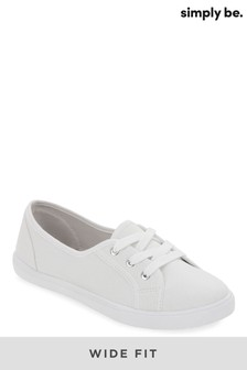 Simply Be Wide Fit Plimsol
