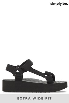 Simply Be Eco Friendly Fabric Tie Sandal Extra Wide Fit