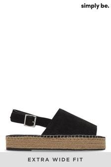 Simply Be Slingback Flatform Sandal Extra Wide Fit