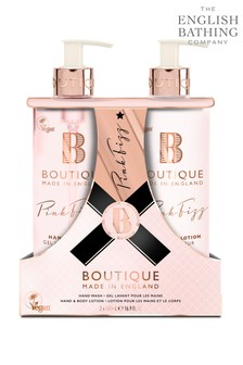 Boutique from The English Bathing Company Pink Fizz Hand Care Duo Set