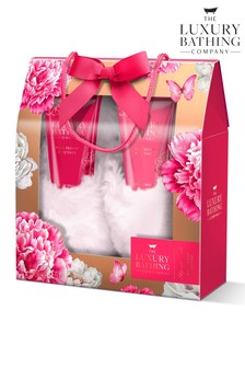 The Luxury Bathing Company Floral Footed Gift Set