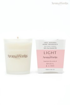 AromaWorks Light Range Basil and Lime 10cl Candle