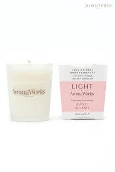 AromaWorks Light Range Basil and Lime 10cl Candle