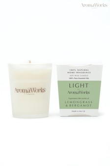 AromaWorks Light Range Lemongrass and Bergamot 10cl Candle