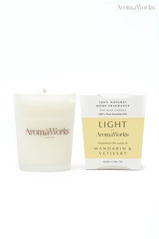 AromaWorks Light Range Mandarin and Vetivert 10cl Candle