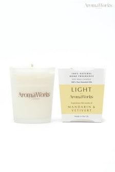 AromaWorks Light Range Mandarin and Vetivert 10cl Candle