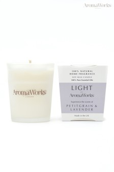 AromaWorks Light Range Petitgrain and Lavender 10cl Candle