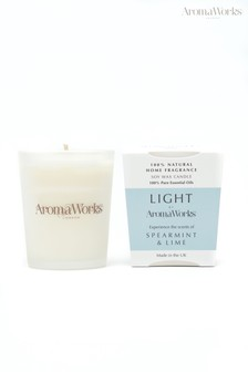 AromaWorks Light Range Spearmint and Lime 10cl Candle