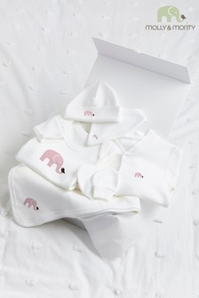 Molly & Monty Organic Pink Elephant Ultimate Collection