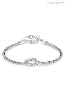 Simply Silver Polished Fox Tail Bracelet