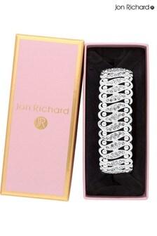 Jon Richard Large Multi Crystal Stretch Bracelet  Gift Boxed